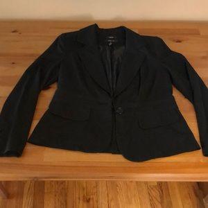 Black button blazer
